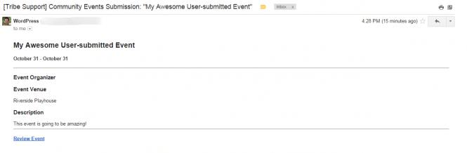 Community Alert Email