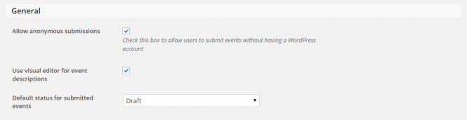 Community Submission Settings